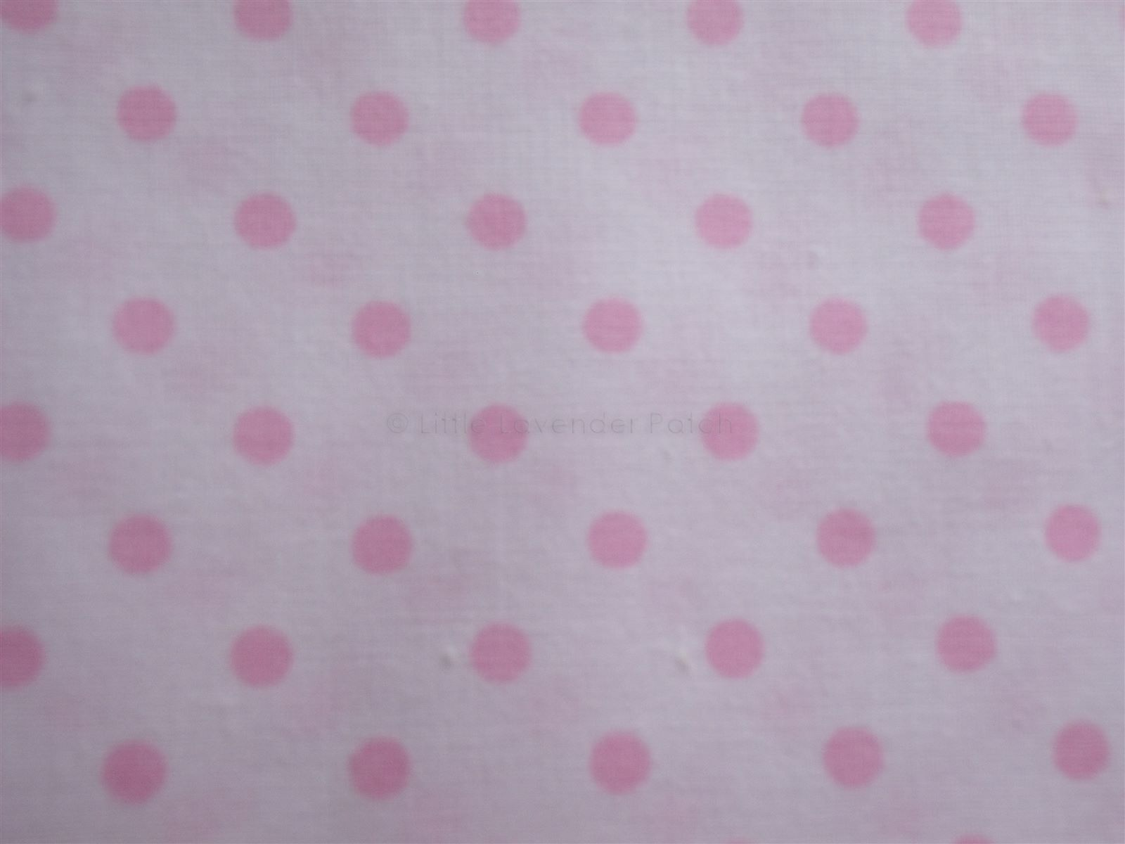White With 0 5cm Pink Spot Cotton Fabric The Little