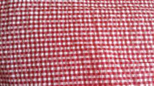 "56""  Small Red Check Seersucker  Fabric"