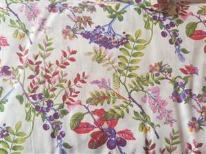 "Fern Floral Fabric  44"" wide"
