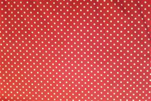 Red with White Spot Cotton Poplin fabric