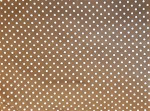 Chocolate Brown White Spot Cotton Poplin fabric