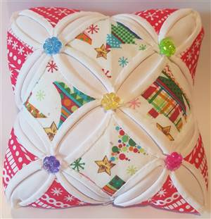 Christmas Floral Cathedral Window Pin Cushion Kit