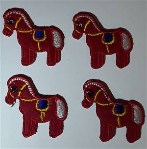 Red Horse Fabric Applique