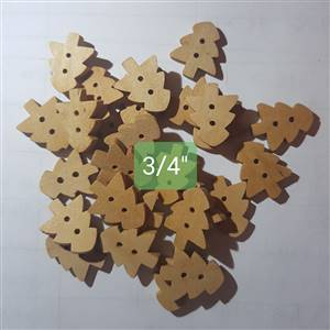 Christmas Wooden Tree Buttons 3.2 x 3cm