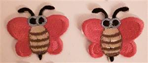 Red Bumblebee Sew/Iron on Patch 60mm