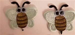 Green Bumblebee Sew/Iron on Patch 60mm