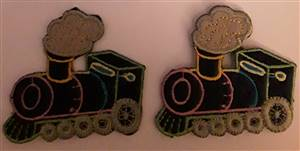 Blue Train Sew/Iron on Patch 60mm
