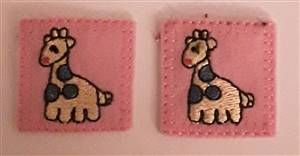 Pink Giraffee Sew/Iron on Patch 30mm