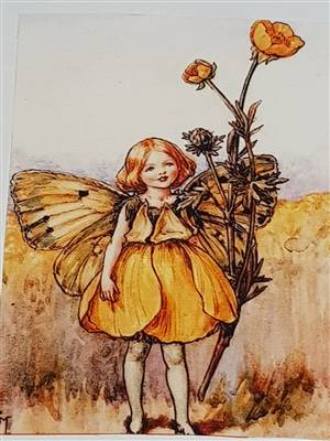 "Flower Fairy Canvas Cotton Panels. 6.5"" x 4.75"". No 7"