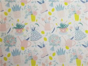 """Gardening Floral Fabric  60"""" wide"""
