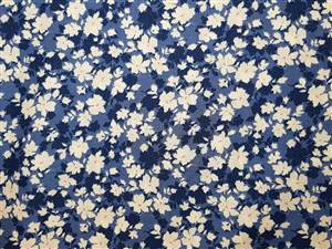 "Blue Floral Fabric  44"" wide"