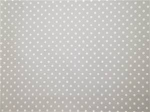 Grey/White Spot Cotton Poplin fabric
