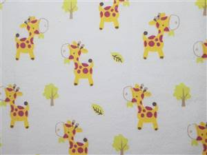 White Flannel Fabric + Giraffes