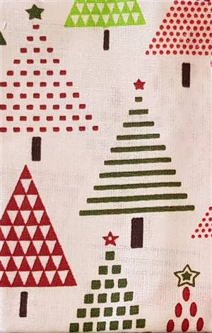 White Christmas Tree Cotton Fabric