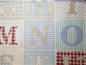 "Furnishing weight Number/Alphabet Fabric  54"" x 39"""