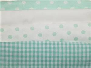 Green Pastel Cotton/seersucker Fabric Bundle