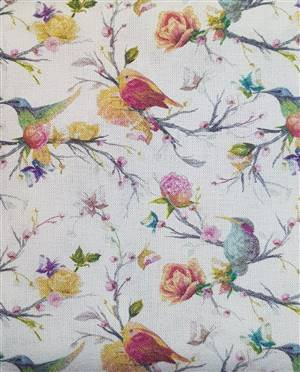 """Small birds Floral Fabric  60"""" wide"""