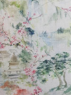 "Pretty oriental Floral Fabric  60"" wide"