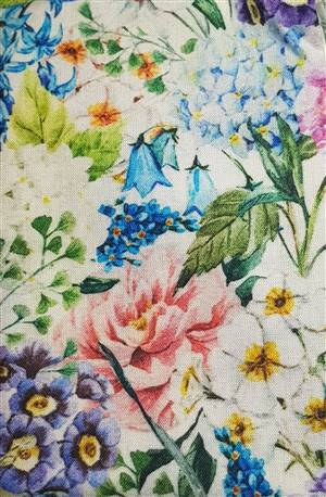"Deep Floral Fabric  60"" wide"