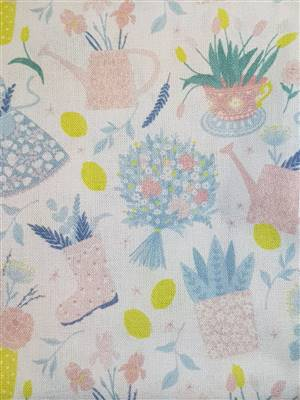 "Gardening Floral Fabric  60"" wide"