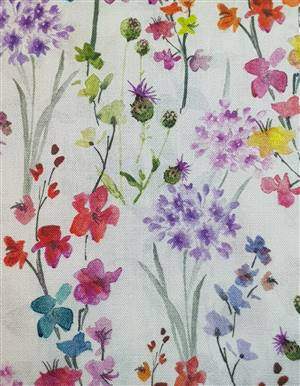 "Small Floral Fabric  60"" wide"