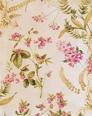 """Pink Floral Fabric  60"""" wide"""