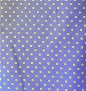 Lilac + White Spot Cotton Poplin fabric