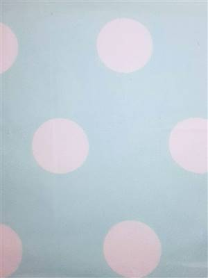 "Green with 1.75"" White Spots Flannel Fabric"