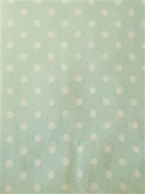 Green with White Spots Flannel Fabric