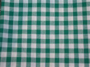 Green Small Check Cotton Gingham Fabric