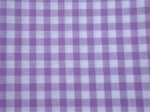 Lilac Large Check Cotton Gingham Fabric