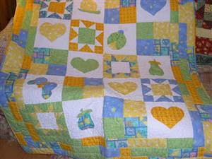 "Childrens 45"" x 60"" Bright Quilt Pattern"
