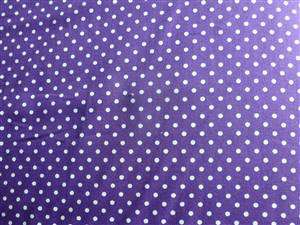 Purple with White Spot Cotton Poplin fabric