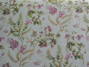 "Pink Floral Fabric  60"" wide"