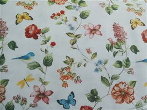 "Summer Floral Fabric  60"" wide"
