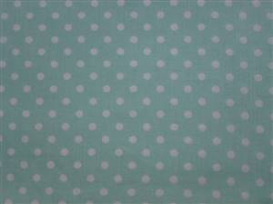 Green with White 0.5cm Spot Cotton Fabric