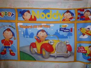 "Noddy in his Car Childrens Cotton Panel 43"" x 23"""