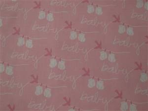 Pink & white BABY Cotton Fabric