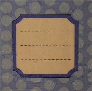 Blue Spot Square Quilt Label. Kitchen .