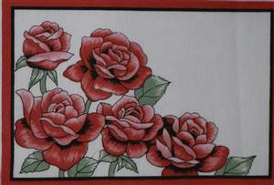Red rose Quilt Label.