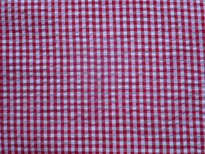 "56""  Red Check Seersucker  Fabric"
