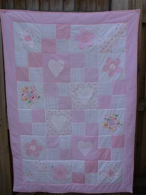 Baby Seersucker Quilt Pattern Pink Version
