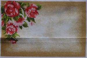 "Red Rose Quilt Label. 5.75"" x 3.75"""