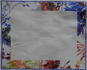 """Coloured trees Quilt Label 5.75"""" x 4.5"""""""