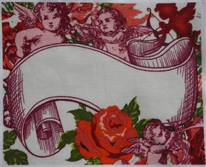 "Cherubs Quilt Label 6"" x 4.75"""