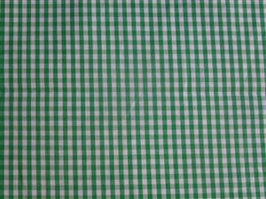 Mid Green Cotton Gingham Fabric