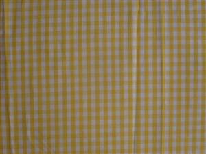 Yellow Small Check Cotton Gingham Fabric