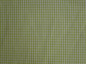 "Pale Green 1/8th"" Check Cotton Gingham Fabric"