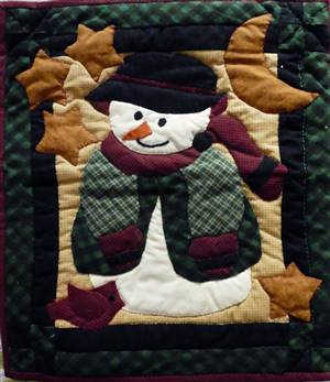 Christmas Santa Quilted Ex sample Hanging