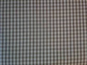 Large Grey Check Cotton Gingham Fabric